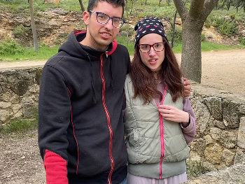 Novios de toda la vida, el PORNO DEL PUEBLO. Diana y Cristian, de travesuras por el campo (Los graba un colega)